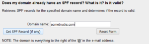 SPF Record example for Office 365 migration